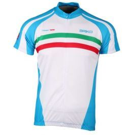 Briko Corsa Team White/lt Blue/Green/Red M
