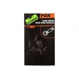 Fox obratlík na háček Edges Kuro Micro Hook Ring Swivels 10 ks