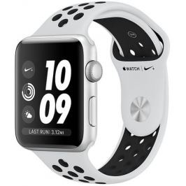 Apple Watch Series 3 Nike+ GPS, 42mm Silver Aluminium Case with Pure Platinum/Black Nike Sport Band