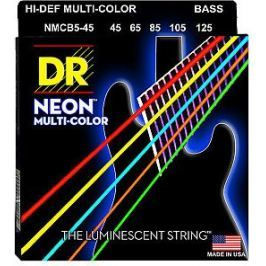 DR Strings NMCB5-45 Neon Multi-Color Medium 5-String